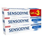 Dentifrice Sensodyne Extra fresh - 3x75ml Dentifrice Sensodyne Extra fresh - 3x75ml