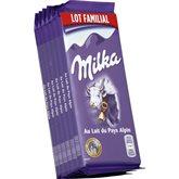 Milka Chocolat au lait  Lait du pays Alpin - 6x100g