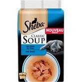 Sheba Sachet Soup  Filet de thon - 4x40g