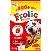Croquettes poue chien Frolic Boeuf/carotte/céreal 4kg + 400g