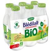 Blédina Blédilait Lait Bébé Croissance Bio 6 x 1 L