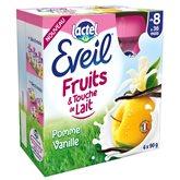Compotes bébé pomme vanille et touche de lait dès 8 mois Eveil