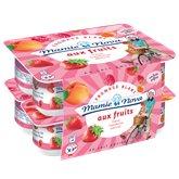 Fromage blanc Mamie Nova Aux fruits - 8x100g