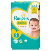 Couches Pampers premium Protection jumbo + T2 - x86