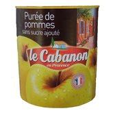 Le cabanon Purée de pommes Le Cabanon Sans sucre ajouté - 850g