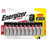 Energizer Piles AA LR alcalines Energizer 12+4