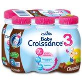 Candia Lait Baby 3 croissance Candia Chocolat 10 mois à 3 ans-6x25cl