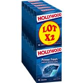 Hollywood Chewing-gum Hollywood Power Fresh menthe forte- 2x70g