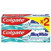 Colgate Dentifrice MaxWhite Colgate Cristaux blancheur - 2x75ml